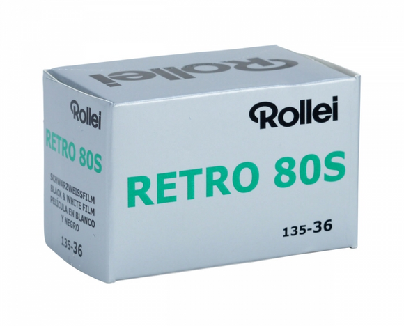Rollei Retro 80s, Black and White Film, 35mm - 36exp. - Probst Camera Inc.