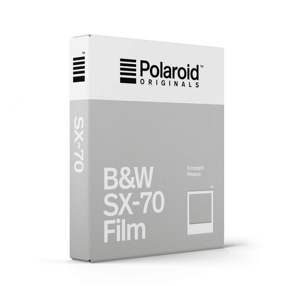 Polaroid SX-70 Instant Film, Black and White, 8exp. - Probst Camera Inc.