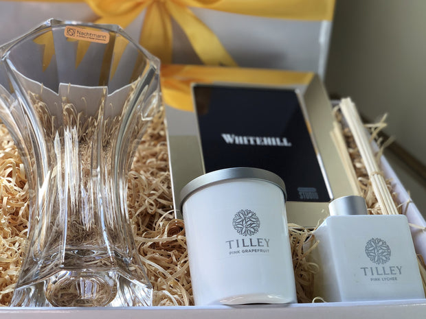 Corporate Crystal Vase And Frame Gift Box
