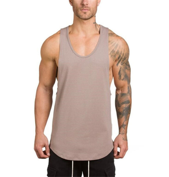 Men Tank Top (Khaki) - shoppe-aesthetics