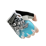 Anti Slip Weight Lifting Half Finger Gloves (Blue) - shoppe-aesthetics