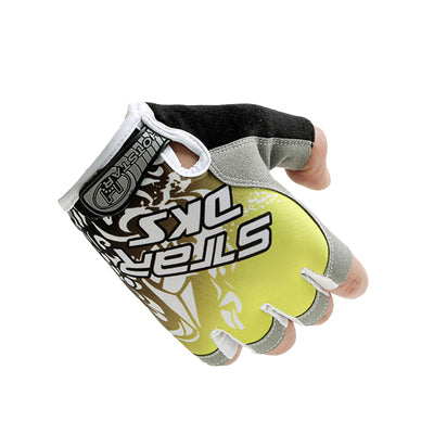 Anti Slip Weight Lifting Half Finger Gloves (Yellow) - shoppe-aesthetics