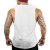 Muscle Guy Fitness Sleeveless T-Shirt (White) - shoppe-aesthetics