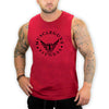 Muscle Guy Fitness Sleeveless T-Shirt (Red) - shoppe-aesthetics