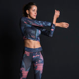 Print Fitness Suit Leggings Breathable Yoga Set 2 Piece - shoppe-aesthetics