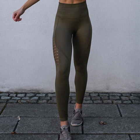 Women Energy Seamless Tummy Control Yoga Pants (Army Green) - shoppe-aesthetics