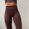 Women Energy Seamless Tummy Control Yoga Pants (Dark Purple) - shoppe-aesthetics
