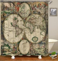 world map fabric shower curtains for bathroom Waterproof curtain for  bathroom curtain bath curtain for home curtain or mat