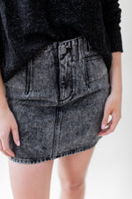 Load image into Gallery viewer, Sylvia Hi Rise Denim Skirt