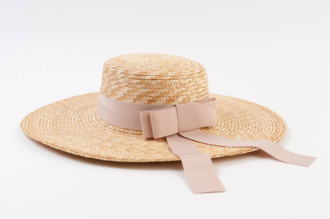 Ribbon Boater Hat
