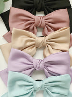 Load image into Gallery viewer, Silk Satin Bow Barette