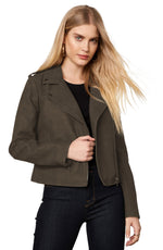 Load image into Gallery viewer, Zaria Vegan Leather Moto Jacket