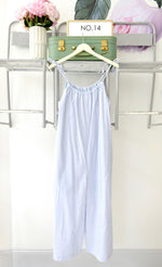 Load image into Gallery viewer, Blue & White Jumpsuit