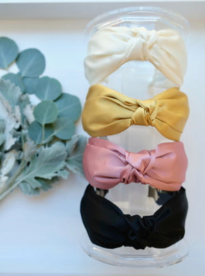 Satin Layered Knot Headband