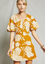 Load image into Gallery viewer, Marigold Floral Dress