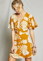 Marigold Floral Dress
