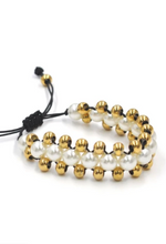 Load image into Gallery viewer, Tahitian Pull & Tie Bracelet