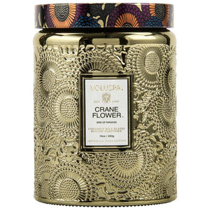 Large Embossed Candle