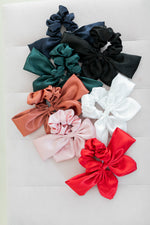 Load image into Gallery viewer, Silky Oversized Bow Scrunchie