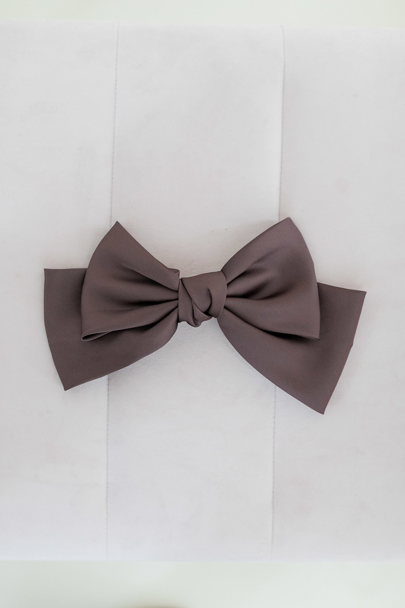 Silk Satin Bow Barette