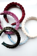 Load image into Gallery viewer, Braided Velvet Headband