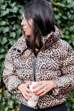 Load image into Gallery viewer, Demi Leopard Puffer Jacket