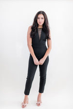 Load image into Gallery viewer, Tyla Strap Neck Detail Jumpsuit