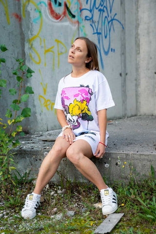 t-shirt dress streetwear women b.different clothing hug tee