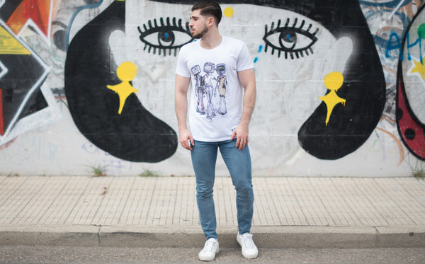 t-shirt Media Dementia by B.Different Clothing independent streetwear inspired by street art