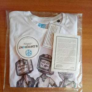 t-shirt zombies tee bdifferent clothing limited edition media dementia independent streetwear street art packaging