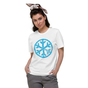 T-shirt sober snowflake tee white bdifferent clothing independent streetwear street art graffiti woman limited edition