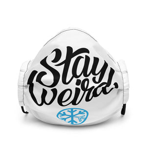 face mask stay weird black white bdifferent clothing independent streetwear street art graffiti