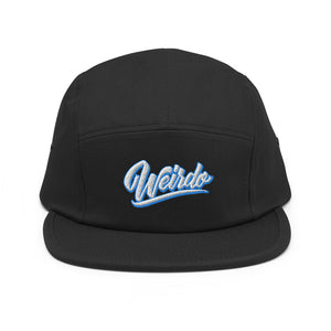 snapback 5 panel weirdo black bdifferent clothing independent streetwear street art graffiti front