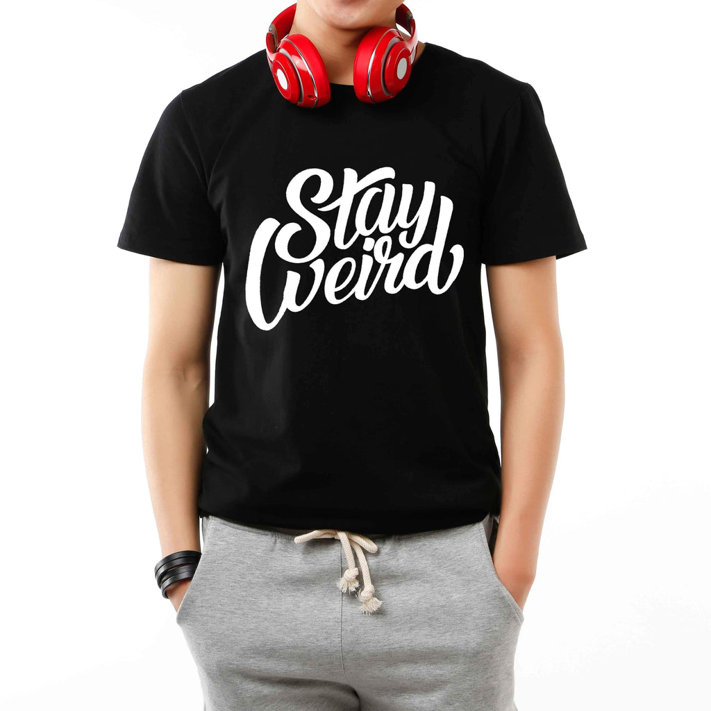 t-shirt stay weird tee black bdifferent clothing independent streetwear street art graffiti man