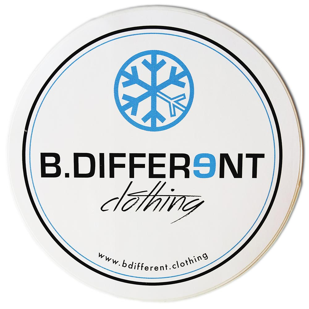 sticker logo bdifferent clothing independent streetwear street art