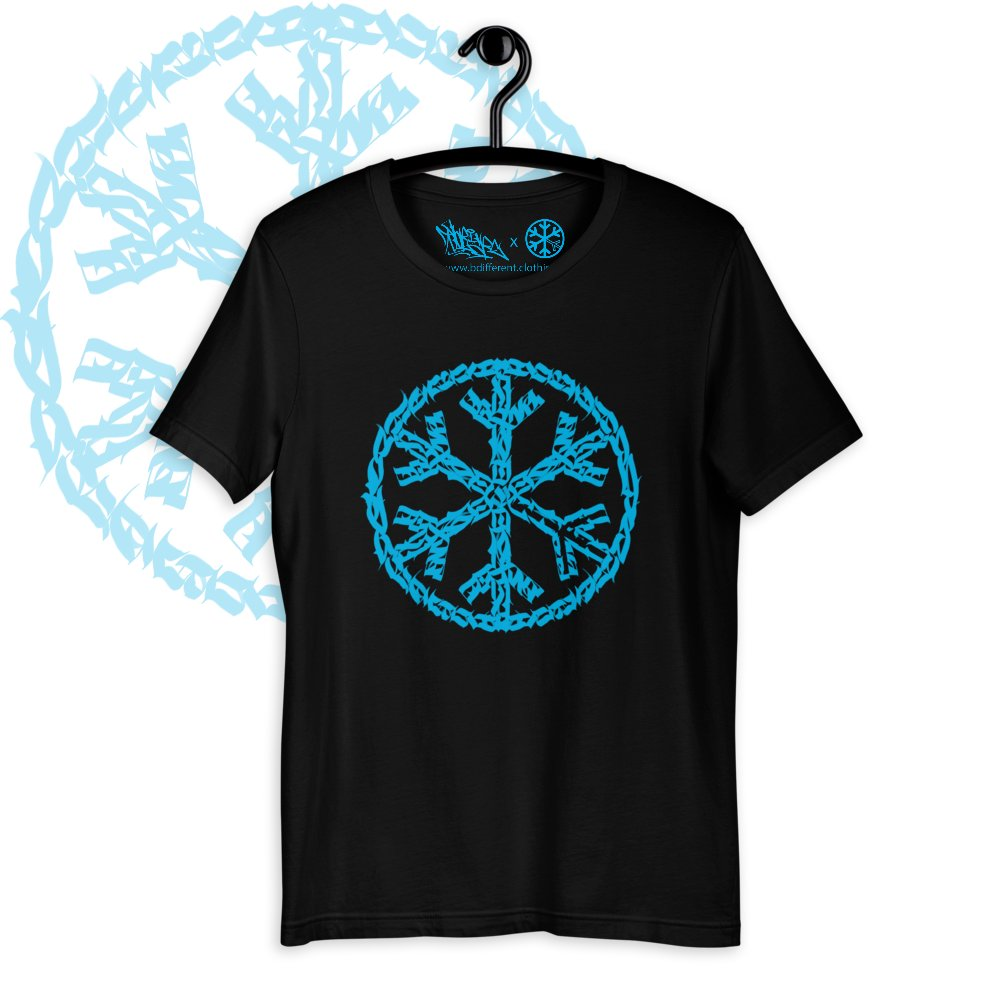 T-shirt sober snowflake tee black bdifferent clothing independent streetwear street art graffiti limited edition