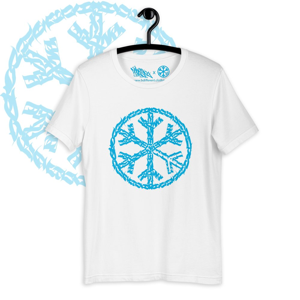 T-shirt sober snowflake tee white bdifferent clothing independent streetwear street art graffiti limited edition