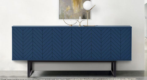 sideboard Pantone blue exclusive 3 door designer contemporary