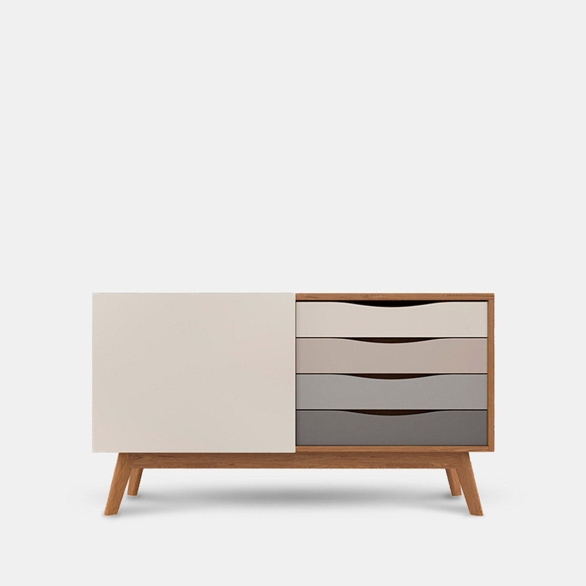 dakota modern sideboard grey oak 4 drawers scandi style (banner image)