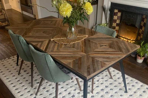 Torin reclaimed teak dining table