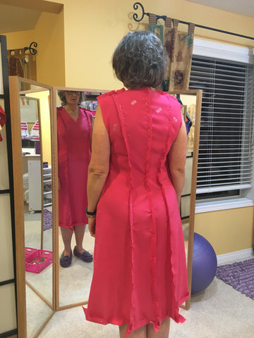 Fabric Fitting Dress Front