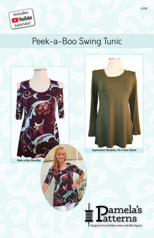 #119 - Peek-a-Boo Swing Tunic