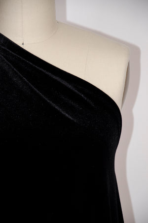 Spandex Velvet Knit - Black