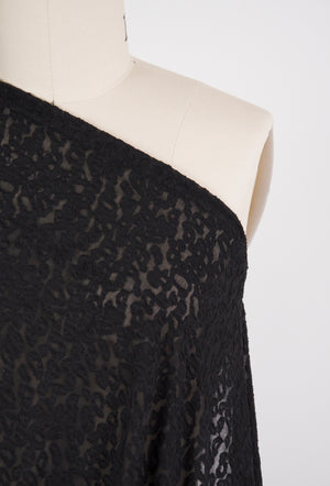 Leopard Lace Knit - Black