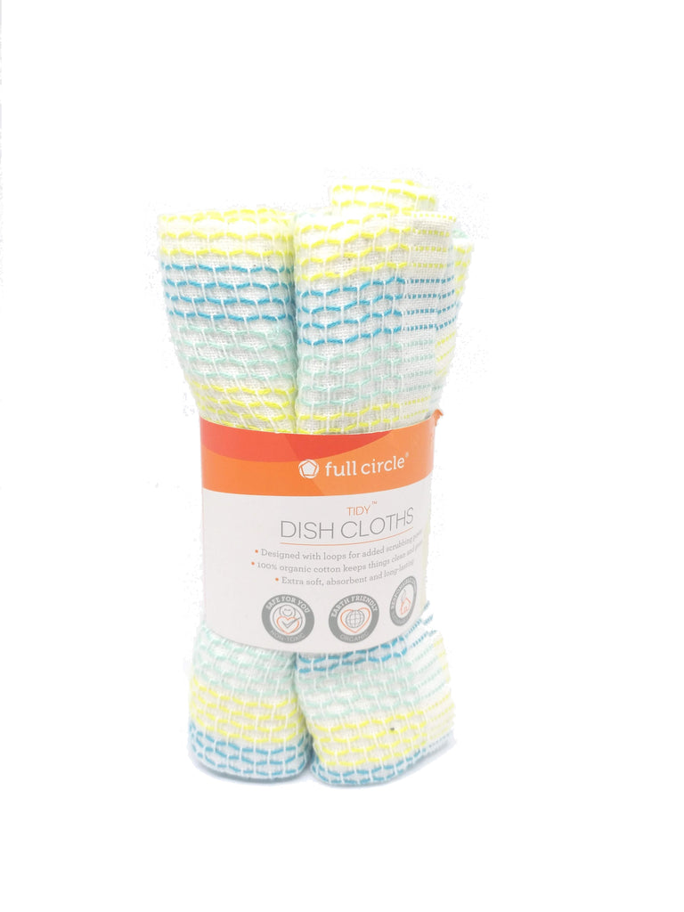 Resuable cotton dishcloths over the disposables