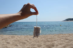 tampon beach from ocean zero waste motivation