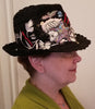Black Lace Floral Fedora