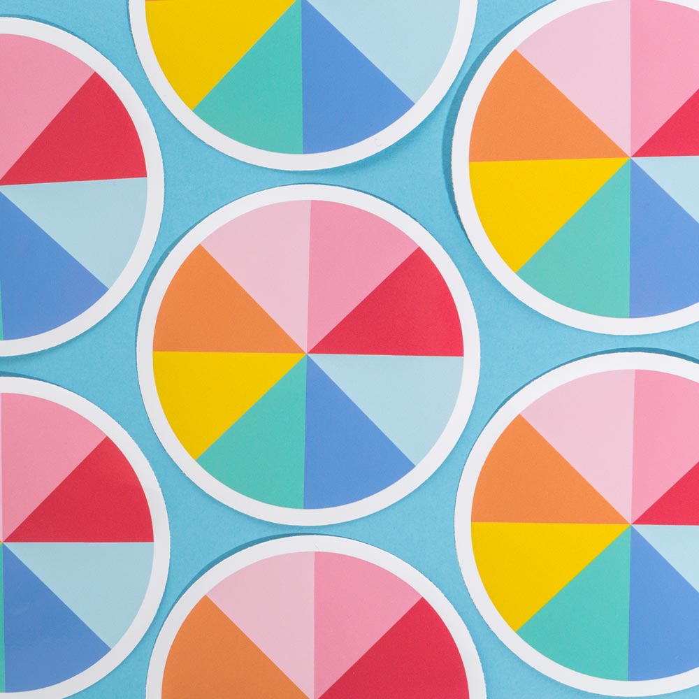 colourful vinyl stickers colour wheel and many others