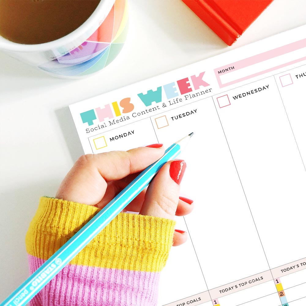 weekly desk planner a4 size colourful to do list notepad