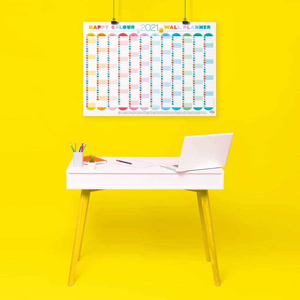 2021 Wall Planner - cute kawaii design - the happy colour shop
